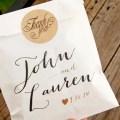 thank you wedding favor bags