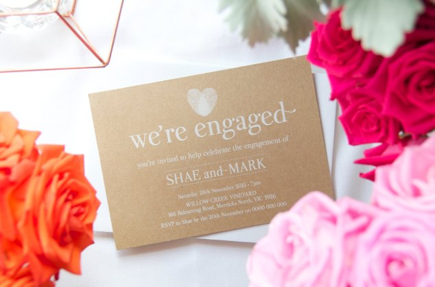 engagement announcement - thumbprint wedding ideas | http://emmalinebride.com/gifts/thumbprint-wedding/