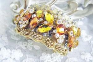 topaz wedding cuff bracelet