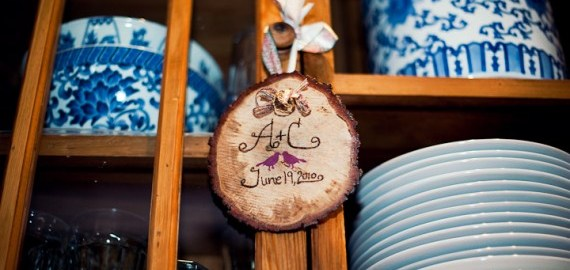 tuscaloosa-wedding-rustic-wood-slice-initials-wedding-hanging-china-cabinet