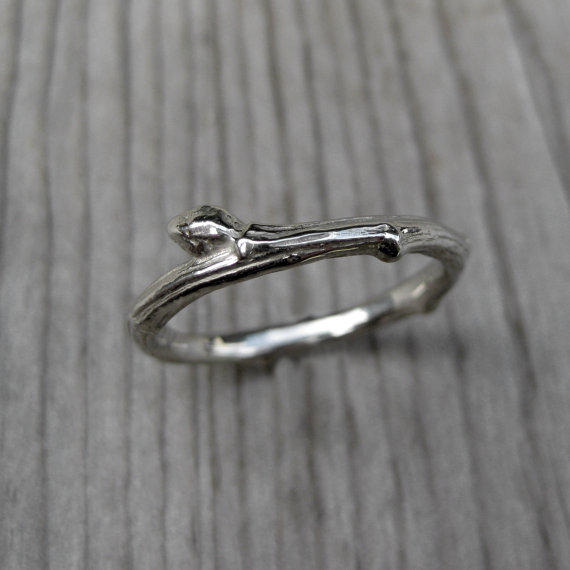 twig wedding band | handmade wedding bands | http://emmalinebride.com/jewelry/handmade-wedding-bands/