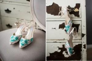 vintage handkerchief wedding shoes