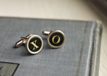 vintage typewriter cuff links