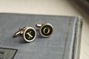 vintage typewriter cuff links