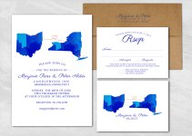 watercolor state invitations