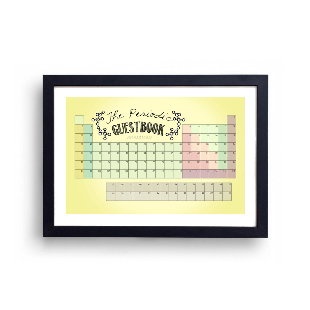 periodic table guest book alternative | via emmalinebride.com | 50+ Greatest Geeky Wedding Ideas of All Time