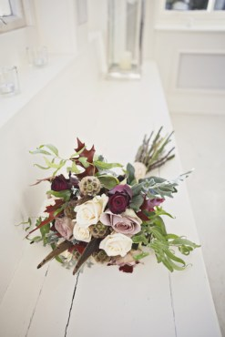 wedding bouquet with borhemian rustic feel