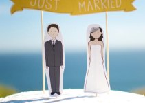 wedding cake topper custom phrases and banner