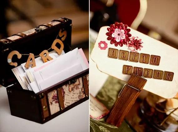 Vintage Fall Wedding - vintage card box