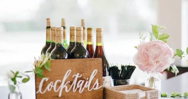 wedding cocktails sign