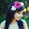 wedding-hair-crown-hot-pink-flower