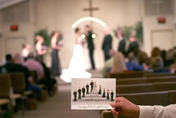 illustrated wedding programs by woodlark designs