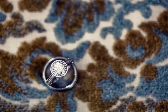 Vintage Fall Wedding - wedding ring shot