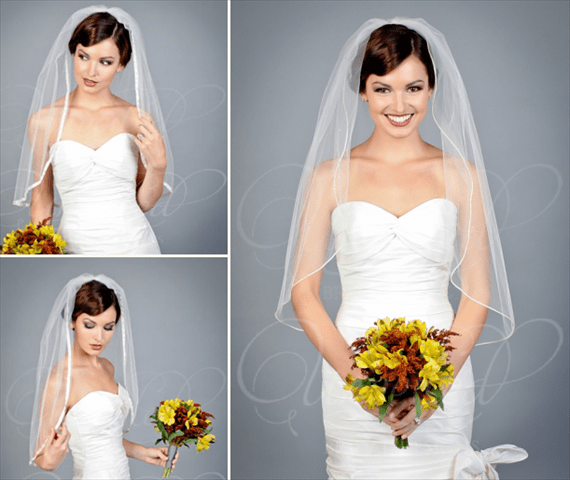 8 Wedding Veil Styles (by EmmalineBride.com, veil by Unveiled Bridal Designs) #handmade #wedding #veils