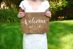 welcome kate and bill sign