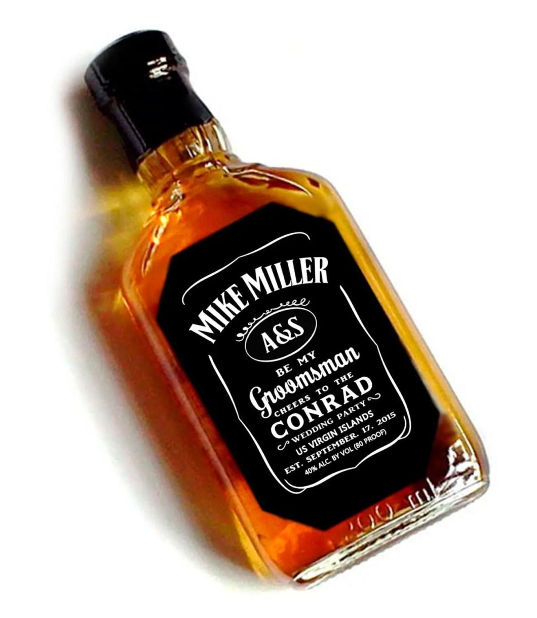 whiskey label be my groomsman