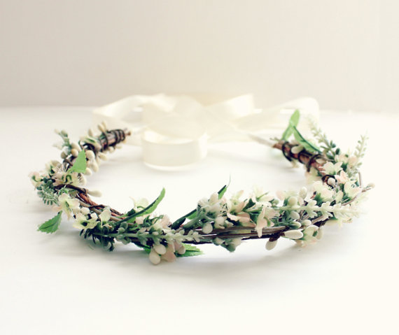 wild flower hair crown