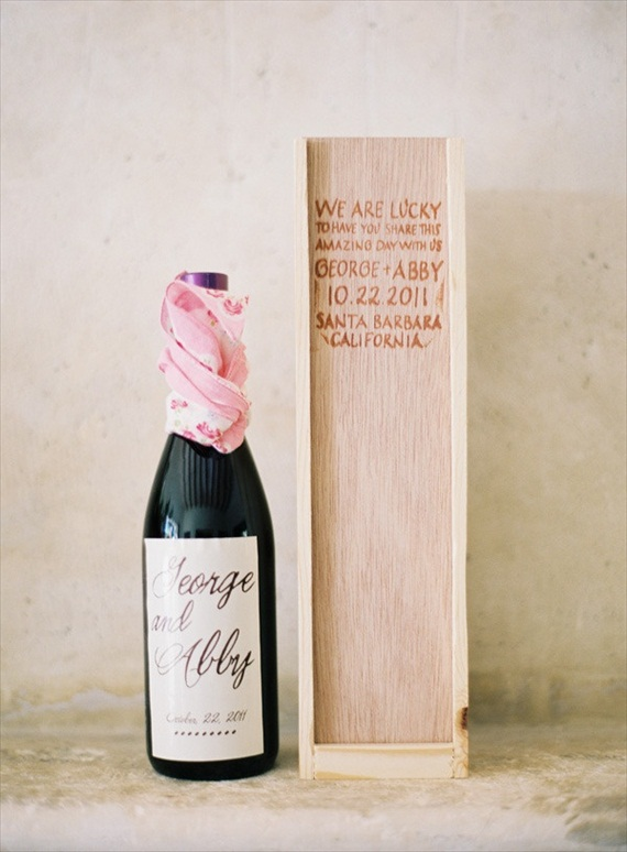 wine box for bridesmaid gift - wine themed wedding ideas