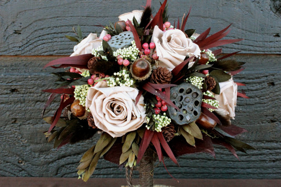 Themed Wedding Bouquets - Woodland Wedding Bouquet