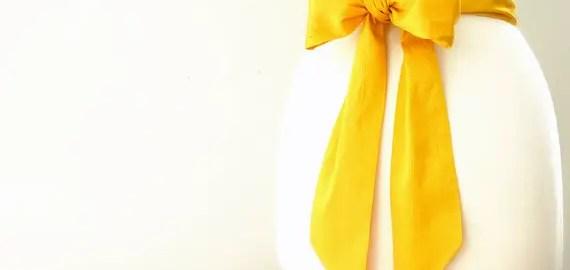yellow dress sash