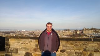 Cameron overlooking Edinburgh