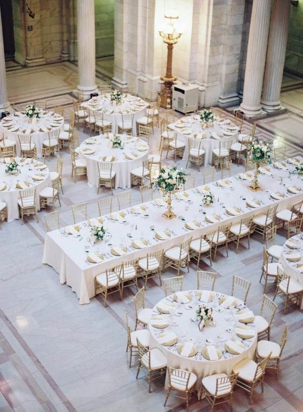 Wedding Reception Table Layout Ideas-A Mix of Rectangular and - wedding reception setup with rectangular tables