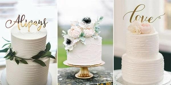 15 Simple but Elegant Wedding Cakes for 2018 - EmmaLovesWeddings