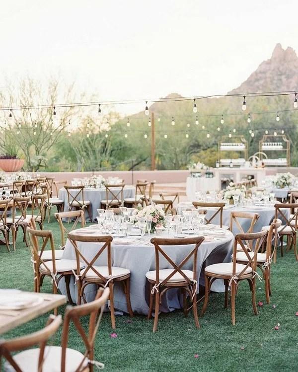 outdoor wedding reception ideas with round tables - EmmaLovesWeddings