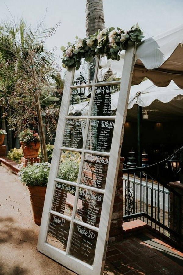 vintage window wedding seating chart - EmmaLovesWeddings