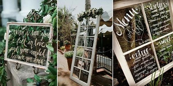 20 DIY Wedding Decoration Ideas with Vintage Windows