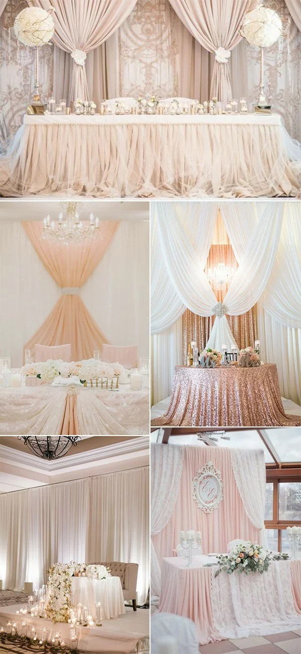 Elegant Wedding Reception Ideas 18 Amazing Wedding Head Table Backdrop Decoration Ideas