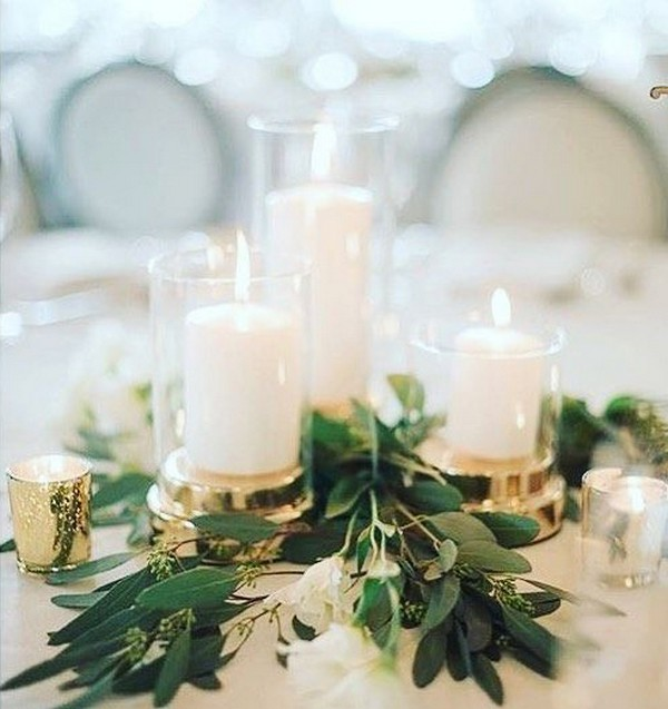 Table Simple 15 Simple But Elegant Wedding Centerpieces For 2019 Trends