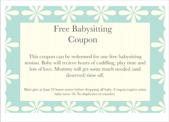 babysitting vouchers funny