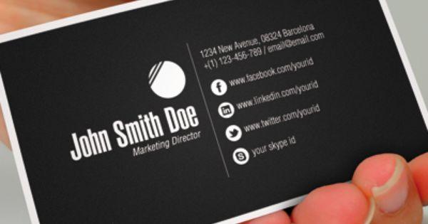 Business Card With Social Media \u2013 emmamcintyrephotography