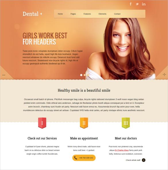 Dental Websites Templates \u2013 emmamcintyrephotography