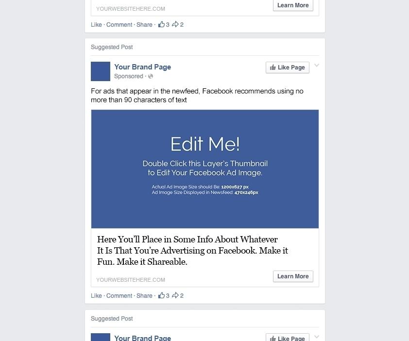 Facebook Ad Template Psd \u2013 emmamcintyrephotography