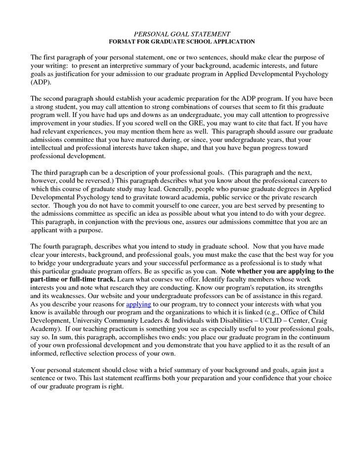 Grad School Personal Statement Examples \u2013 emmamcintyrephotography