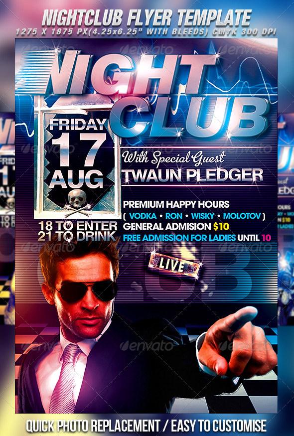 Night Club Flyer \u2013 emmamcintyrephotography