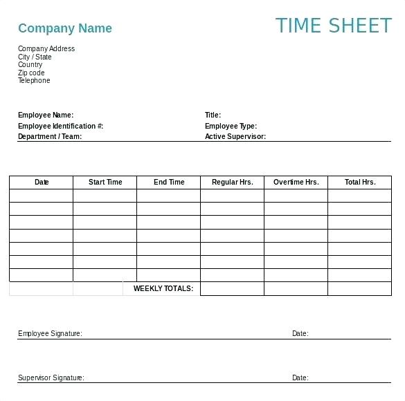Weekly Timesheet Template Word \u2013 emmamcintyrephotography