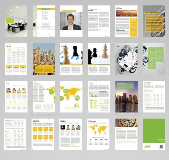 Annual Report Design Templates \u2013 emmamcintyrephotography