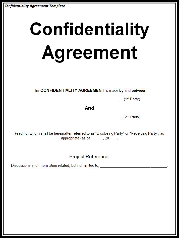 Confidentiality Agreement Form \u2013 emmamcintyrephotography
