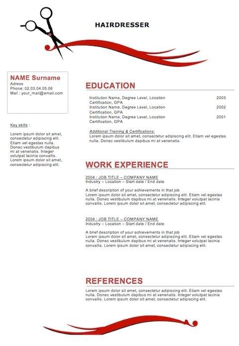 Cosmetology Resume Templates \u2013 emmamcintyrephotography