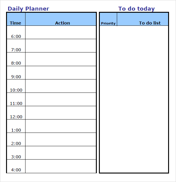 Daily Schedule Template Word \u2013 emmamcintyrephotography