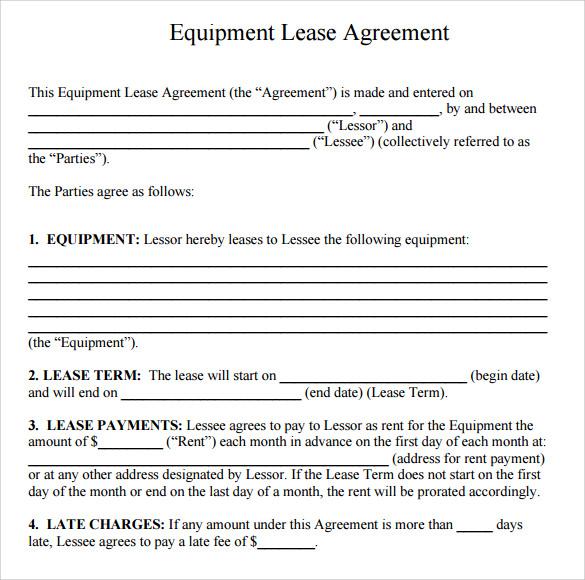 Equipment Rental Agreement Template \u2013 emmamcintyrephotography