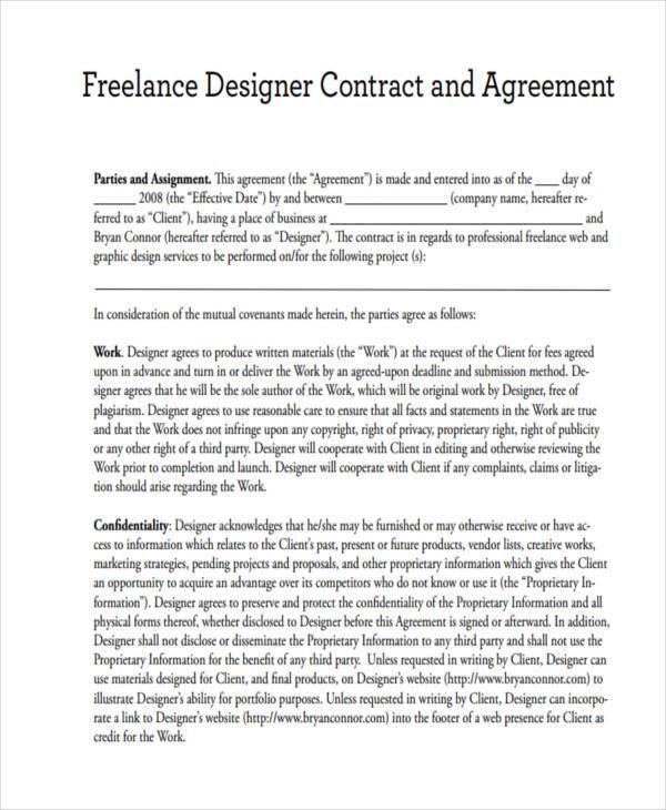 Freelance Graphic Design Contract \u2013 emmamcintyrephotography