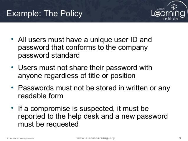 Network Security Policy Example \u2013 emmamcintyrephotography