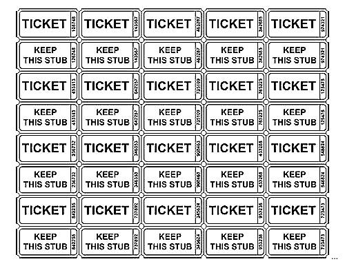 Raffle Ticket Template \u2013 emmamcintyrephotography