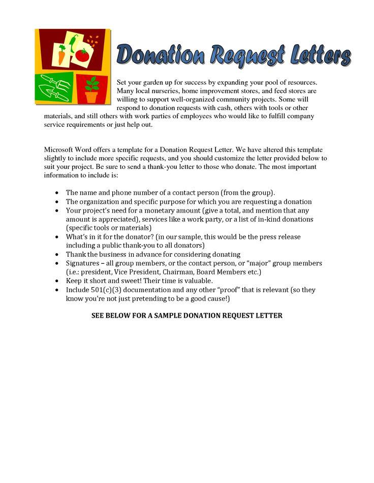Sample Letter Asking For Donation \u2013 emmamcintyrephotography
