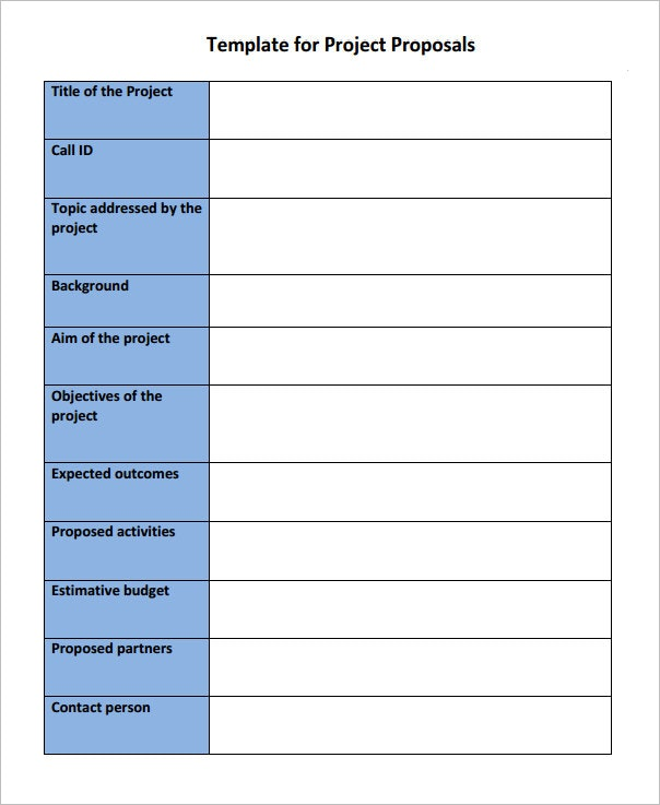 Simple Project Proposal Template \u2013 emmamcintyrephotography