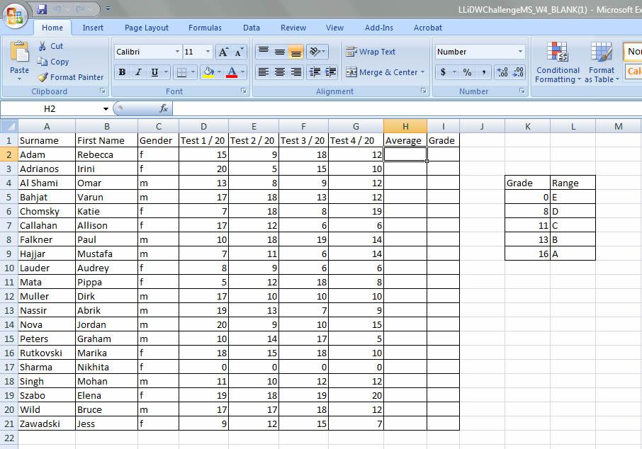 Microsoft Excel Spreadsheet \u2013 emmaweber